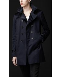 Burberry Prorsum Cotton Trench Coat - Lyst