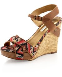 Twelfth Street Cynthia Vincent - Naomi Wedge with Crossfront Detail - Lyst