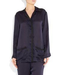 Lanvin - Silk-satin pyjama set - Lyst
