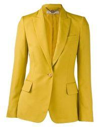 Stella McCartney Notch Collar Slub Jacket  - Lyst