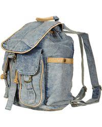 Topshop Blue Acid Wash Backpack - Lyst