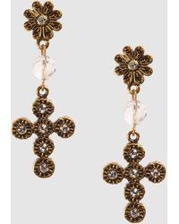 D&G Gold Rhinestone Earrings - Lyst