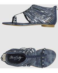 Miss Sixty Flip Flops - Lyst