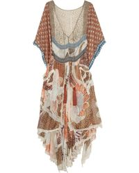 Bally - Printed Silk-chiffon Dress - Lyst