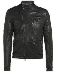 D&G Leather Zip Jacket - Lyst