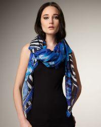 Roberto Cavalli Floral-print Silk Stole - Lyst