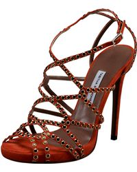 Tabitha Simmons Studded Suede Strappy Sandal - Lyst
