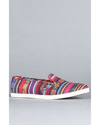 Vans The Slip On Lo Pro Sneaker in Red Guate Stripe multicolor - Lyst