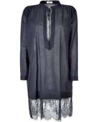 Day Birger Et Mikkelsen Shadow Grey Elisabeth Tunic Dress - Lyst