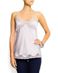 Mango Lace Top - Lyst