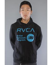 RVCA The Anp Hoody in Black - Lyst