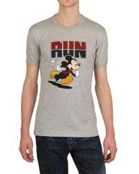 D&G Mickey Mouse Run Cotton Jersey T-shirt - Lyst
