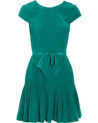 Gryphon - Silk Pintucked Dress - Lyst