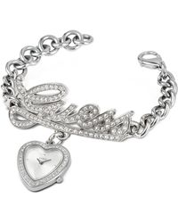 Guess - Signature Heart Bracelet Watch - Lyst