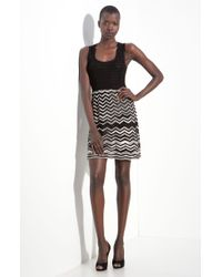 M Missoni Zigzag Knit Dress - Lyst