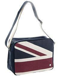 Ben Sherman - Union Jack Design Flight Bag Navy - Lyst