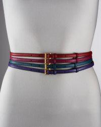 Prada Saffiano Skinny Belt - Lyst