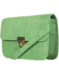 Topshop Green Snake Skin Crossbody Bag - Lyst