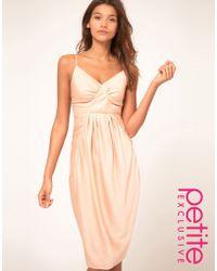 ASOS Collection Asos Petite Exclusive Bias Cut Midi Dress - Lyst