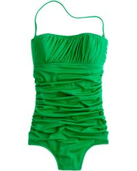 J.Crew Ruched Banded Bandeau Tank - Lyst