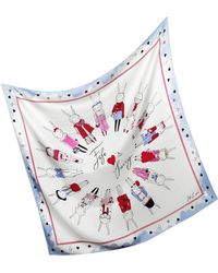 Juicy Couture - Fifi Lapin Silk Square Scarf - Lyst