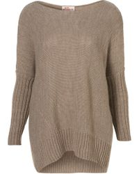 TOPSHOP - Oversize Rib Sleeve Jumper By Annie Greenabelle** - Lyst