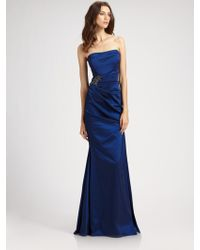 David Meister Strapless Gown - Lyst