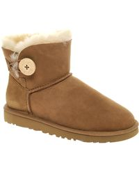 Ugg Australia Suede Bailey Button Boots - Lyst