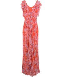 Carolina Herrera Chiffon Print Gown - Lyst