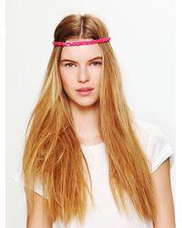 Free People Frayed Fabric Headband - Lyst