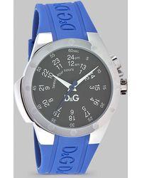 Dolce & Gabbana - Dual-reading Watch/rubber Strap - Lyst