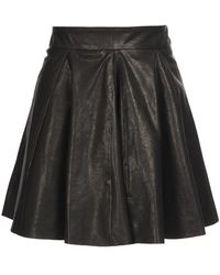 Felder Felder - Pleated Leather Mini-skirt - Lyst
