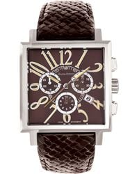 Tommy Bahama | Palms Square Case Leather Strap Watch | Lyst