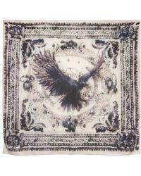 Balmain - Eagle Print Cashmere Blend Modal Scarf - Lyst