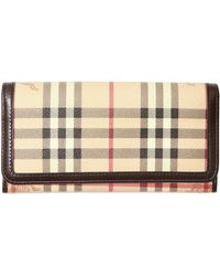 Burberry Penrose Check Wallet - Lyst