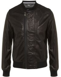 D&G Leather Bomber Jacket - Lyst