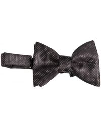 Lanvin Silk Dots Satin Bow Tie - Lyst