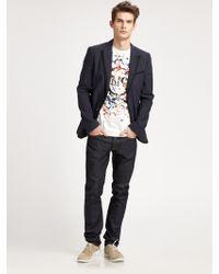 McQ by Alexander McQueen Skinny Raw Denim Jeans - Lyst