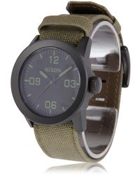 Nixon Steel and Canvas Private Watch - Lyst