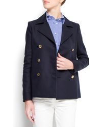 Mango Double Breasted Coat - Lyst