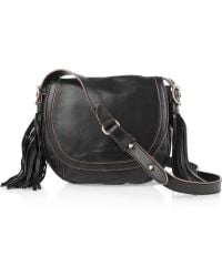 See By Chloé Twin Tassels Leather Shoulder Bag black - Lyst