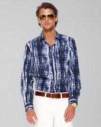Michael Kors Tie-dye Print Shirt - Lyst