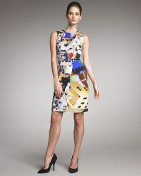 Yigal Azrouël Abstract-print Dress - Lyst