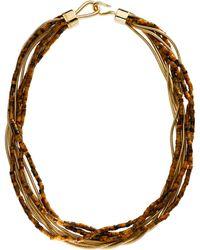 Michael Kors - Tigers Eye Snake-chain Multi-strand Necklace - Lyst
