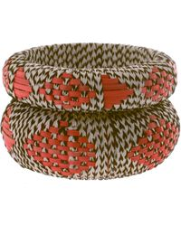ASOS Collection Asos Pack Of Two Wicker Thread Aztec Bangles - Lyst
