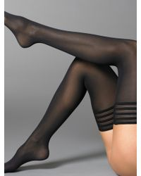 Wolford Velvet De Luxe Stay-Up Thigh Highs - Lyst