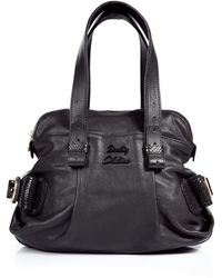 See By Chloé Black Embellished Leather Bowling Bag - Lyst