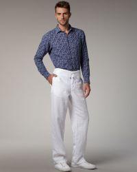 Zegna Sport - Drawstring Linen Pants - Lyst