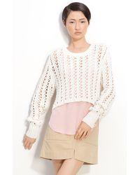 3.1 Phillip Lim Crop Pullover Sweater - Lyst