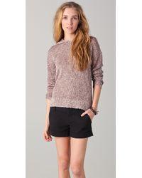 Alice + Olivia Emmett Hooded Boxy Sweater - Lyst